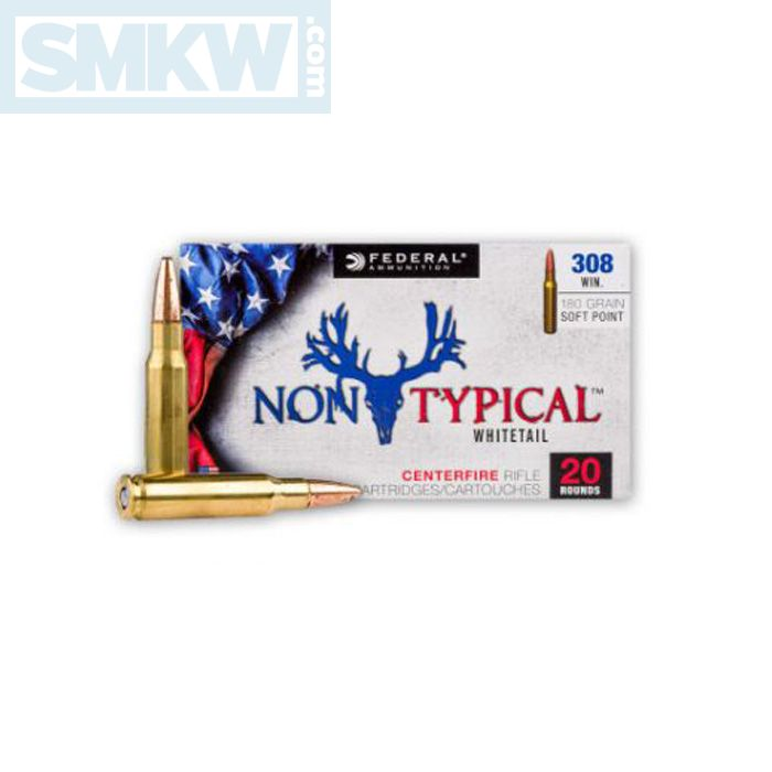 Federal Non-Typical Whitetail 308 Winchester/7.62 NATO 180 Grain Soft Point 20 Rounds