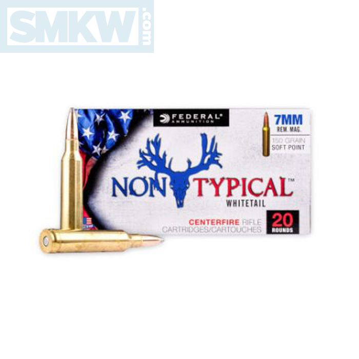 Federal Non-Typical Whitetail 7mm Remington Magnum 150 Grain Soft Point 20 Rounds
