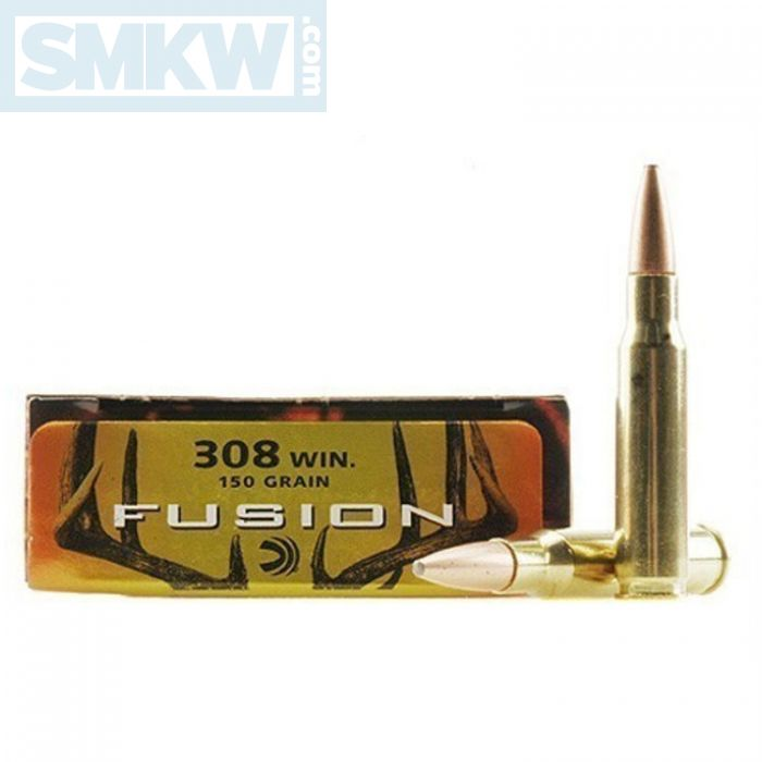 Federal Fusion 308 Winchester 150 Grain Bonded Spitzer Boat Tail 20 Rounds