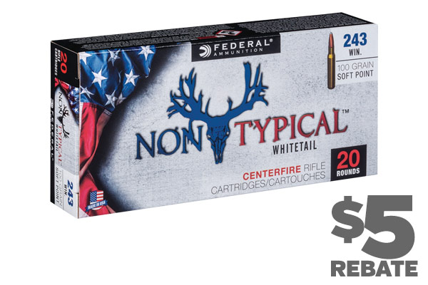 $5 Rebate per Box on Federal Non-Typical Ammo!