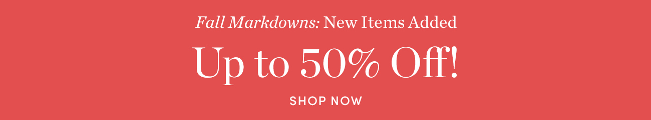 Fall Markdowns
