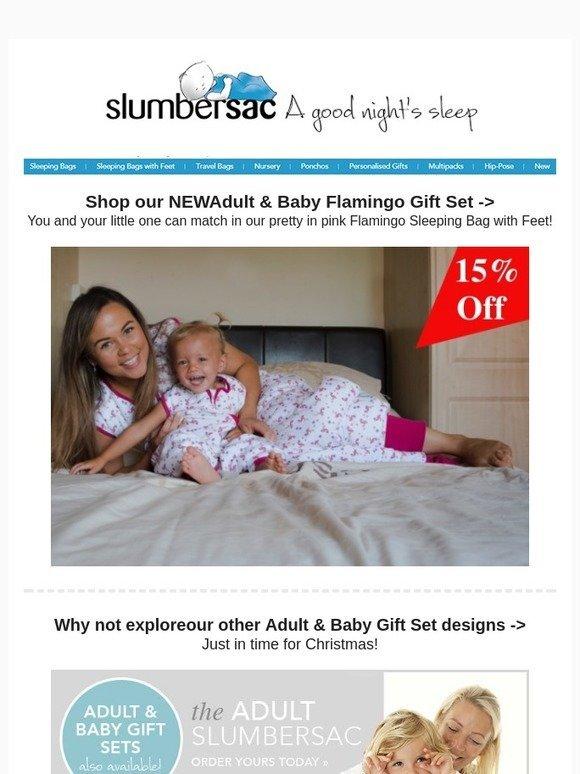 sports shoes 29be6 e9576 Slumbersac Uk: NEW: Adult & Baby Flamingo Gift Set | Milled