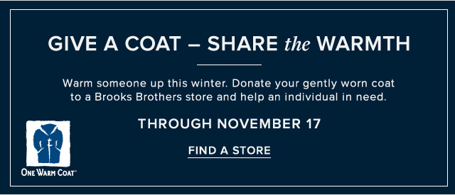GIVE A COAT  SHARE THE WARMTH