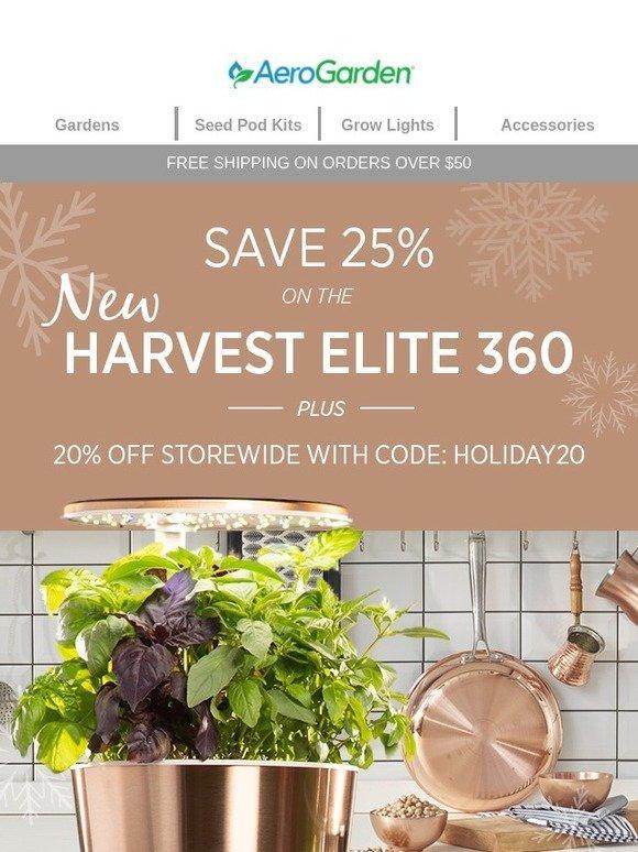 Aerogrow Take 25 Off The New Harvest Elite 360 And Harvest Elite Now Milled
