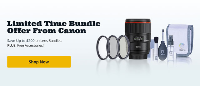 Up to $200 instant rebates plus free accessories on lens kits