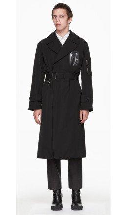 Random Identities - Black Military Trench Coat