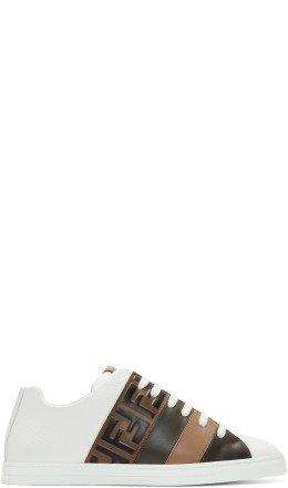 Fendi - White 'Forever Fendi' Reloaded Sneakers