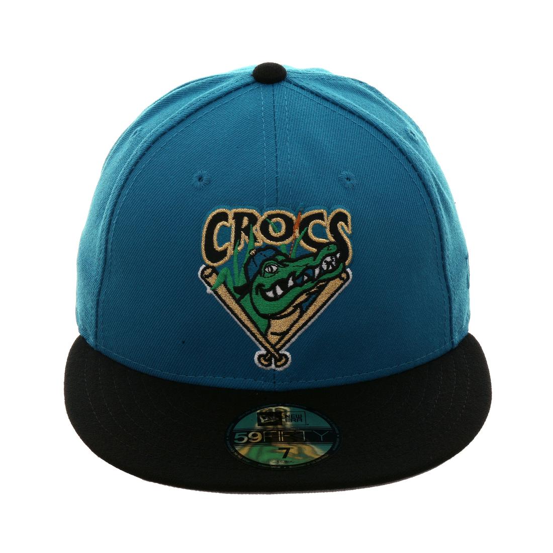 Exclusive New Era 59Fifty Cape Fear Crocs Hat - 2T Teal 3dbb34183b75