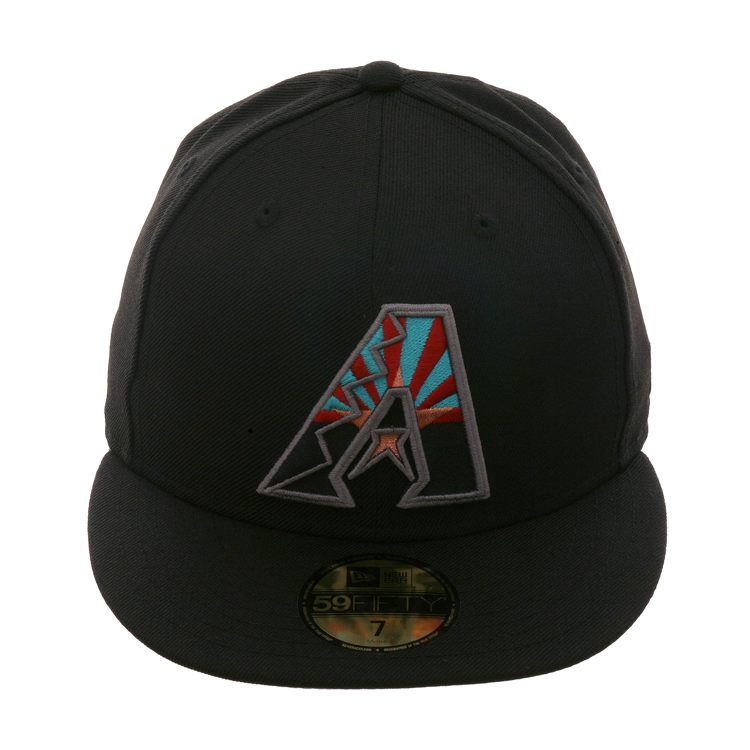 Exclusive New Era 59Fifty Arizona Diamondbacks A Flag Hat - Black 135d87964071
