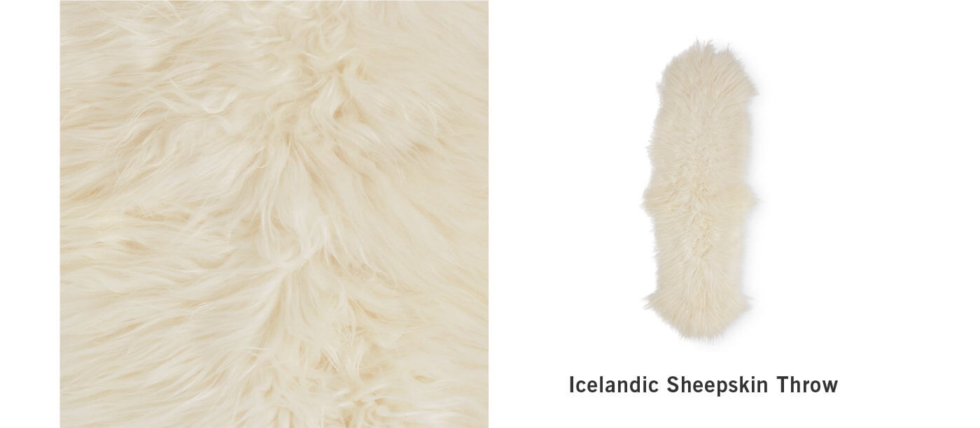 Icelandic Sheepskin Throw