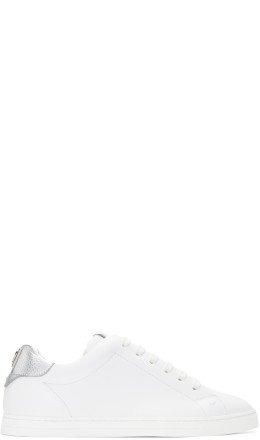 Fendi - White Vocabulary Sneakers