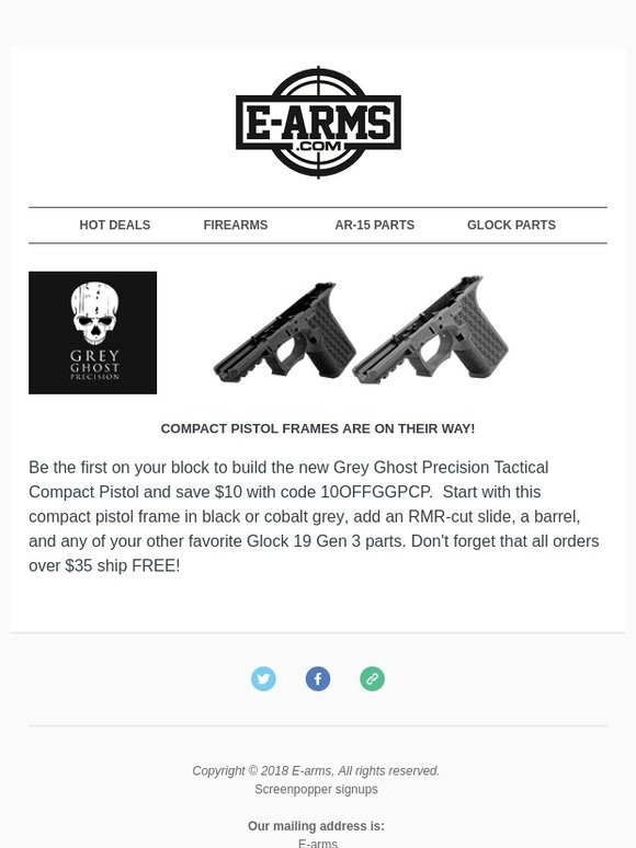 E-Arms: Be the first to build your Grey Ghost Precision