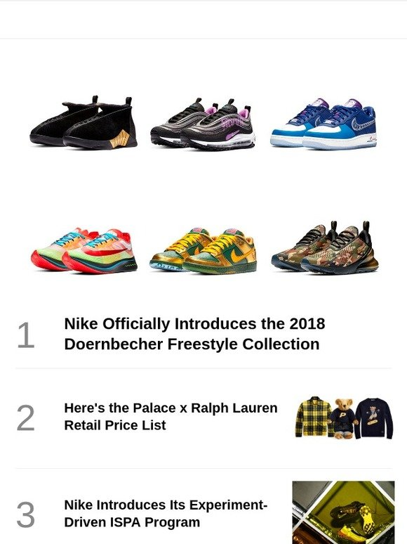 a6f657ac596 Hypebeast: Nike Officially Introduces the 2018 Doernbecher Freestyle  Collection | Milled