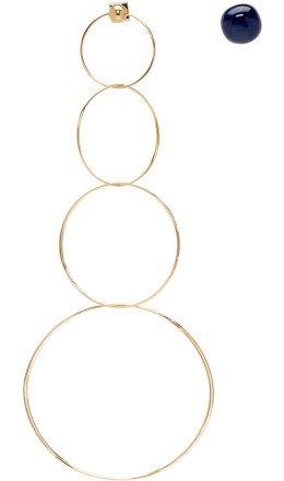 Jacquemus - Gold & Navy 'Les boucles Soraya' Earrings