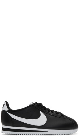 Nike - Black Leather Classic Cortez Sneakers