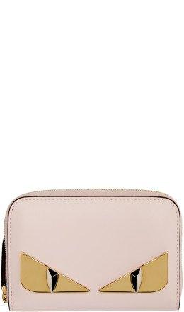 Fendi - Pink Small 'Bag Bugs' Zip-Around Wallet