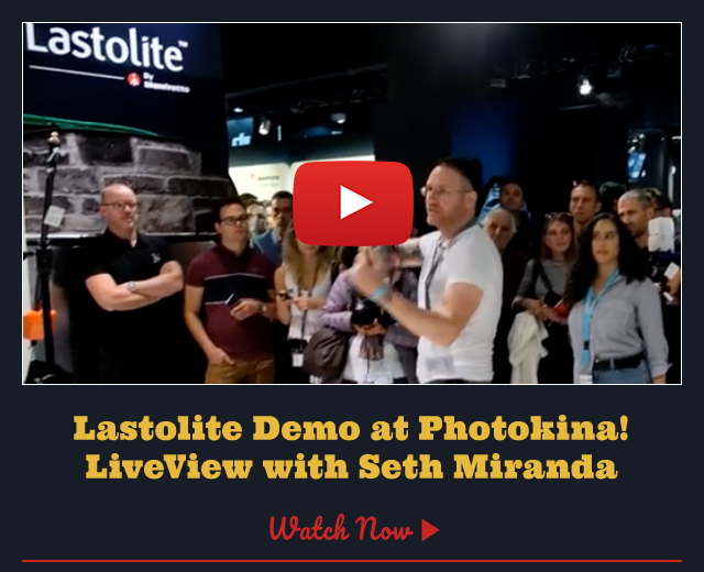 Lastolite demo at Photokina! - LiveView with Seth Miranda