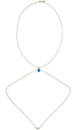 Jacquemus - Gold & Blue 'La perle bleue' Body Chain Necklace