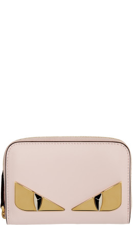 Fendi - Pink Small 'Bag Bugs' Zip-Around Wallet