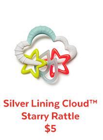 Silver Lining Cloud™ Starry Rattle $5