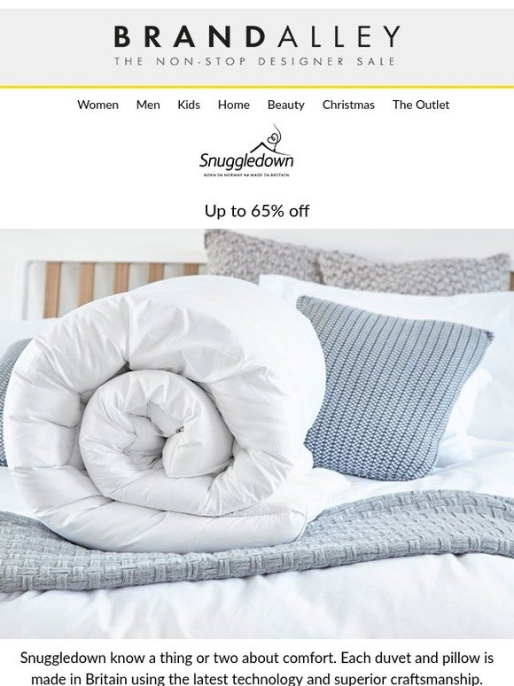 fe16f1233dba brandalley uk limited  Up to 65% off Snuggledown Duvets   Pillows ...