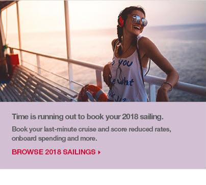Time is running out to book your 2018 sailing