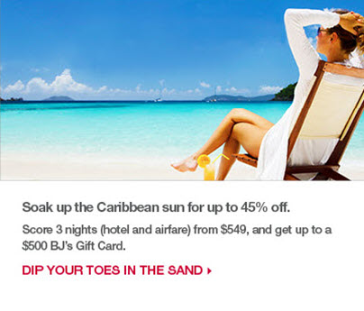 Soak up the Caribbean sun for up to 25% off