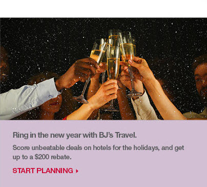Ring in the new year with BJ's Travel