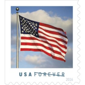 USPS FOREVER First Class Postage Stamps  U.S. Flag  Coil of 100 Stamps