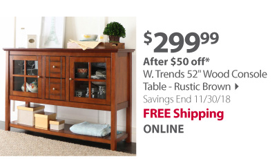 W.trends wood console