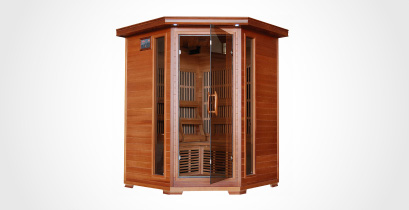 cedar infrared corner sauna