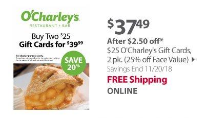 $25 O charleys