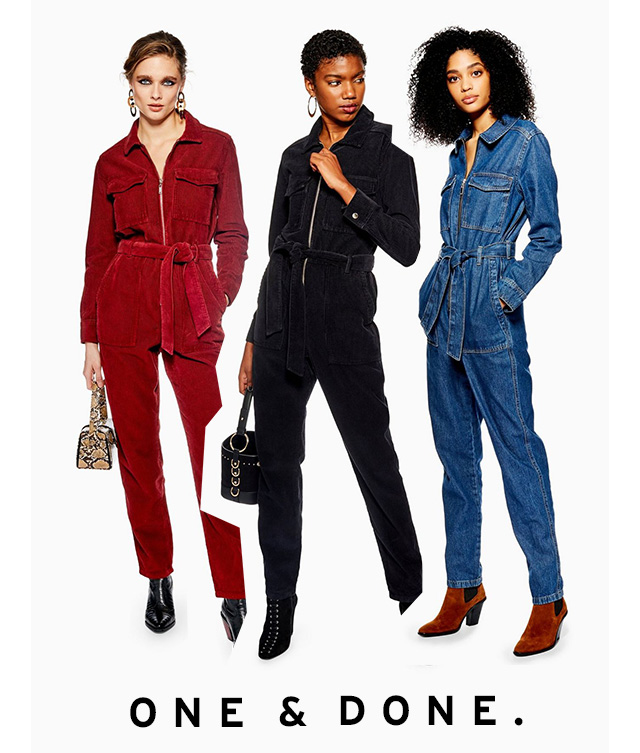 Re-discover the boilersuit this season