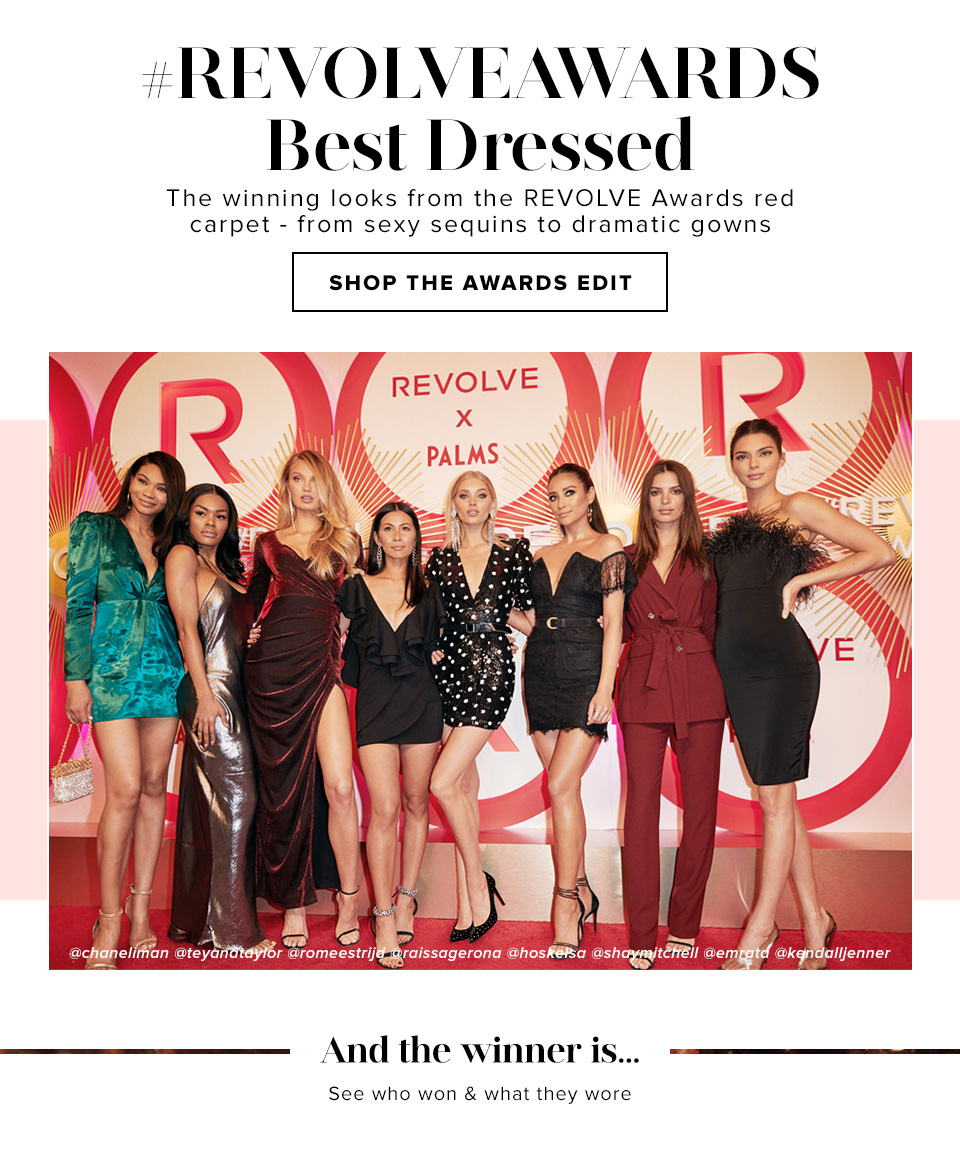 #REVOLVEAWARDS BEST DRESSED. The winning looks from the REVOLVE awards red carpet - from sexy sequins to dramatic gowns. SHOP THE AWARDS EDIT.