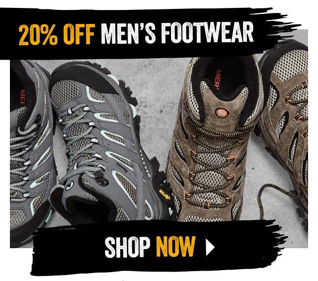 20% off Men's footwear