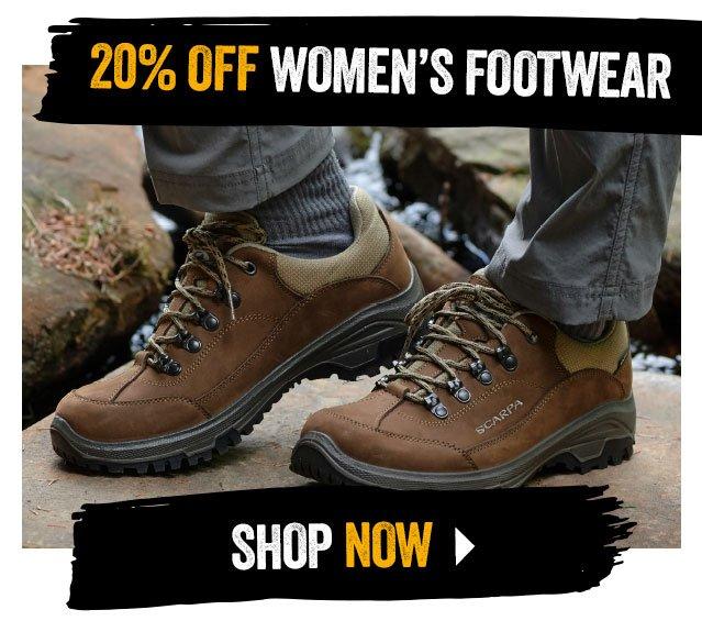 20% off Women's Footwear