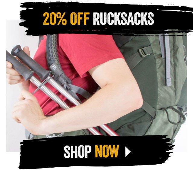 20% off Rucksacks