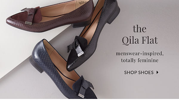 the Qila Flat - Menswear-Inspired, totally feminine - Shop Shoes