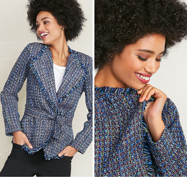 Tied & Tweed - A chic update on a timeless classic - 40% off - Also Available in Petite - Shop Jackets