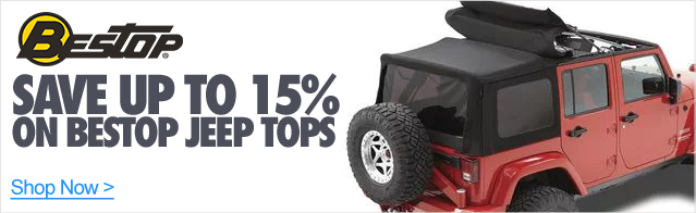 Save up to 15% on Bestop Jeep tops