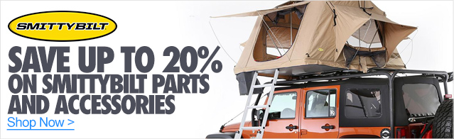 Save up to 20% on Smittybilt parts and accessories