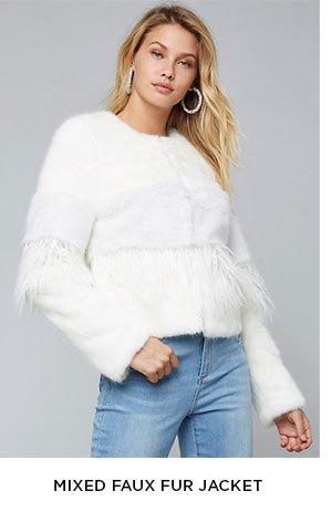 Mixed Faux Fur Jacket