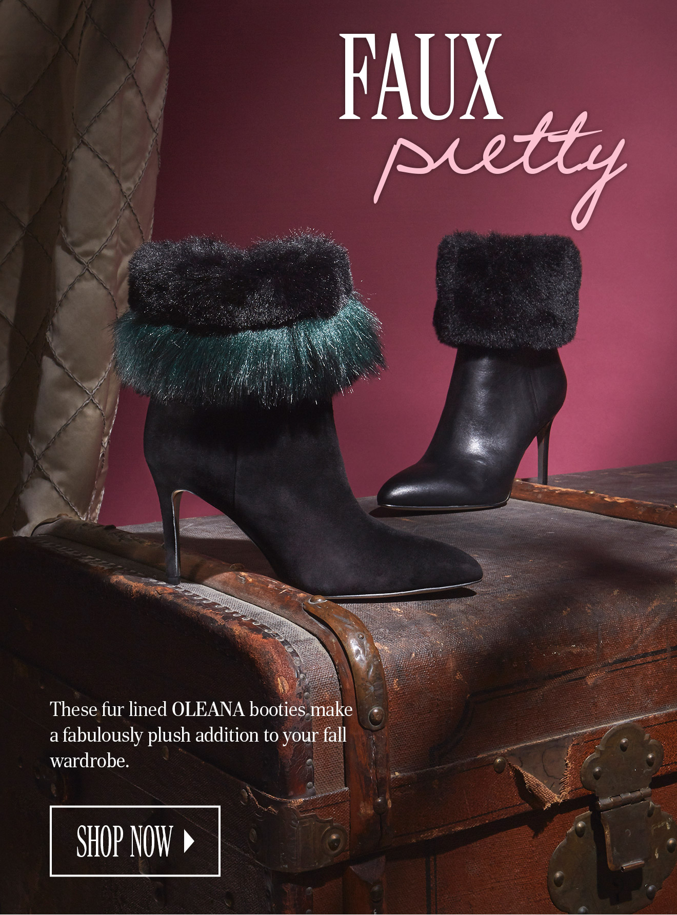 fbcaf3c7513d0 These fur line OLEANA booties make a fabulously plush addition to you fall