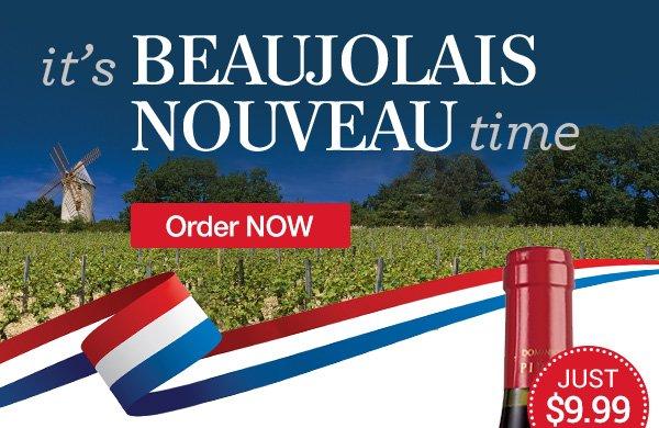 Beaujolais Nouveau exclusive –JUST $9.99 a bottle