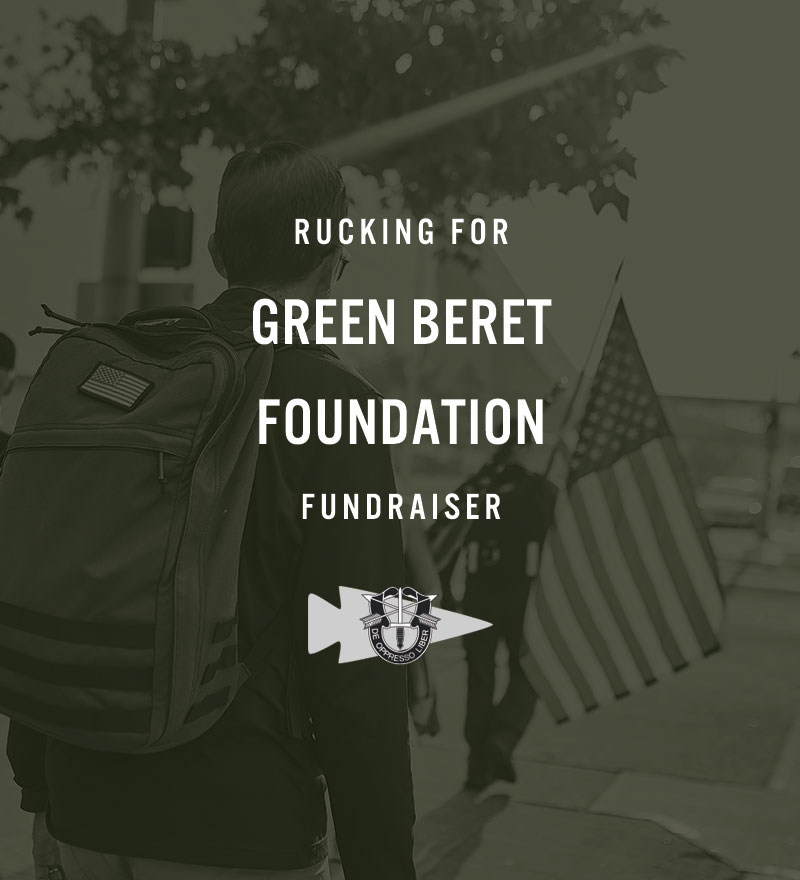 7f76389e4e36b A few weeks ago we launched the GBF virtual fundraiser that supports the Green  Beret Foundation and gets you out rucking