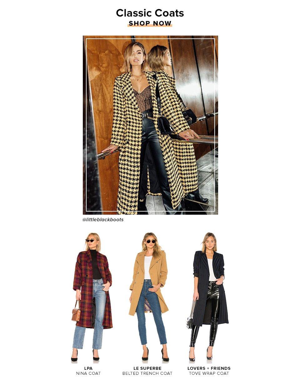 Classic Coats. Shop Now.