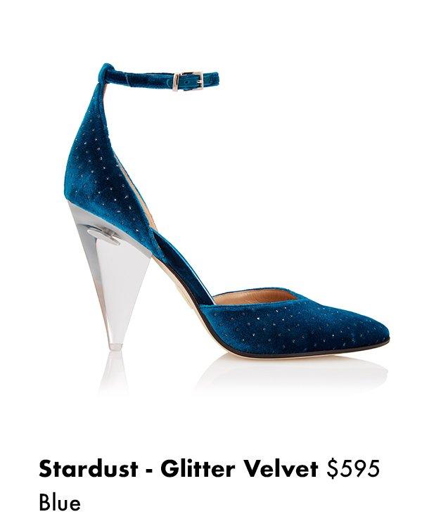 Stardust - Glitter Velvet Blue