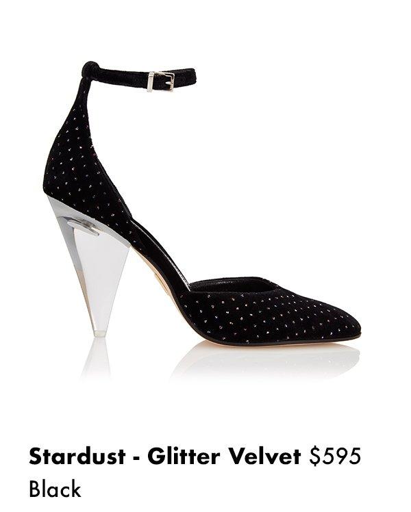 Stardust - Glitter Velvet Black