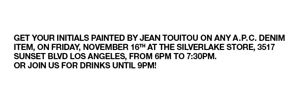 Tonight! Hand painting session with Jean Touitou