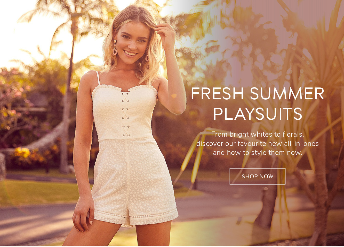be5016595f9c FRESH SUMMER PLAYSUITS From bright whites to florals